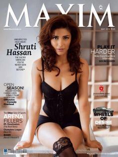 Shruti Haasan on the Cover of Magazine May 2013