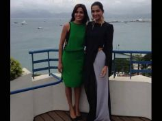 Sonam In Black Huemn Dress