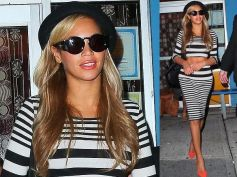 Beyonce Flaunts A Flat Tummy In Topshop