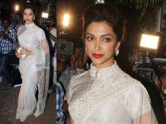 Deepika In White Saree