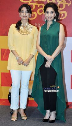 Juhi Chawla & Madhuri Dixit at at Launch of Believe campaign to celebrate the Triumphs of Women