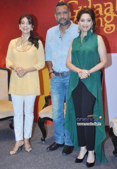 Juhi Chawla, Anubhav Sinha and Madhuri Dixit