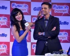 Chitrangada Singh and Rahul Dravid at Launch of Gillette Fusion Power