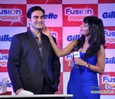 Arbaaz Khan, Chitrangada Singh and  at Launch of Gillette Fusion Power