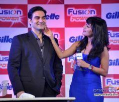 Arbaaz Khan, Chitrangada Singh and  at Launch of Gillette Fusion Power