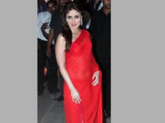 Kareena In Red Chiffon Saree