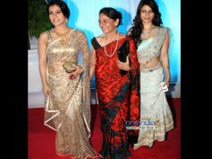 Kajol In Golden Lace Saree