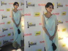 Sonam In White Lace Saree