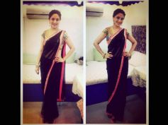 Madhuri In Black Saree