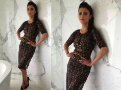 Shruti Haasan In Sheer Arpan Vohra Dress