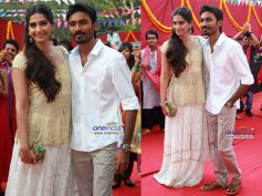 With co-star Dhanush