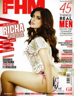 Richa Chadda on The Cover of FHM - June 2013