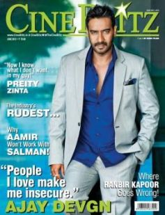 Ajay Devgn on the cover of Cine Blitz - June 2013