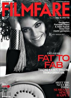 Kajol on the cover of Filmfare magazine