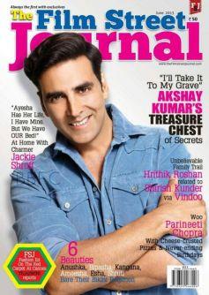 Akshay Kumar on cover of The Film Street Journal - June