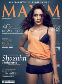 Shazahn Padamsee on the cover of Maxim