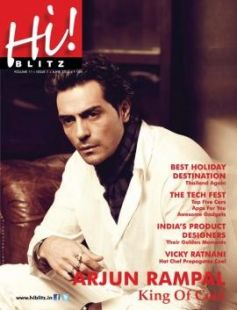 Arjun Rampal on the cover of Hi! Blitz - June 2013