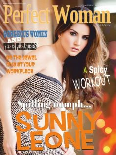 Sunny Leone on the covers of Perfect Woman Magazine