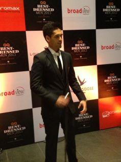Siddharth Mallya at GQ's Best Dressed Men 2013 Party