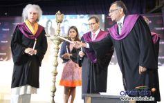 Shivkumar Sharma, Meghna Ghai-Puri, Subhash Ghai & Ravi Gupta at 6th Annual Convocation of WWI
