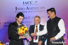 Girish Kumar at 9th Indo American Corporate Excellence Awards 2013