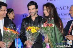Girish Kumar and Poonam Dhillon at 9th Indo American Corporate Excellence Awards 2013