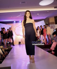 Alia Bhatt walks the ramp during the inauguration of the biggest Bata store