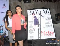 Ami Patel and Alia Bhatt at Unveiling of fashion magazine Harper's Bazaar 2013
