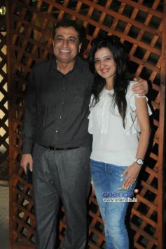 Sanjay Vazirani with Amy Billimoria during launch of Cafe B9