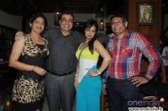 Leonys Pereira, Sanjay Vazirani, Kavitta Verma and Anselm Pereira during launch of Cafe B9