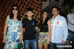 Parvez Damania with her Family during launch of Cafe B9