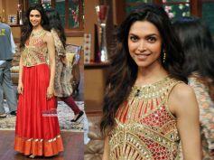 Deepika In Red Anarkali