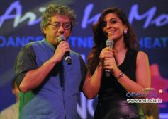 Taufiq Qureshi with Aanchal Gupta at Art in Motion dance studio annual festival 2013