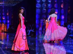 Back-view Of Pink Fusion Gown