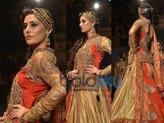 Nargis Fakri In Orange n Gold