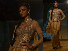 Anarkali Blouse n Golden Saree