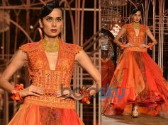Multi-coloured Anarkali