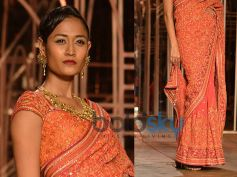 Saffron Orange Saree