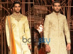 Cream and Golden Sherwani