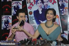 Imran Khan and Sonam Kapoor attended the Stardust August 2013 cover launch