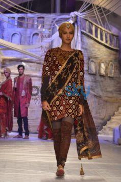 Brown Velvet Salwar Kameez