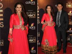 Madhuri's Red Frock-Style Gown
