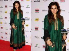 Raveena's Green Anarkali