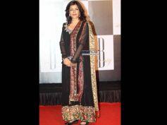 Zeenat Aman In Black Indian Gown