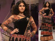 Black Lace Designer Lehenga