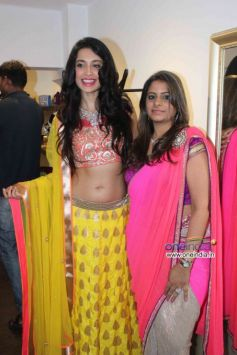 Sarah Jane Dias with Shouger Merchant at Launch of fashion designer Shouger Merchant's store