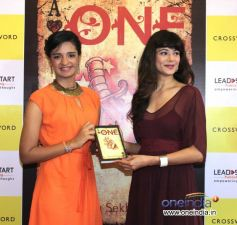Pooja Batra with Shriya Sekhsaria at Launch of Shriya Sekhsaria's book One