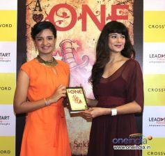 Pooja Batra with Shriya Sekhsaria at Launch of Shriya Sekhsaria's book One