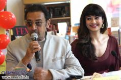 Gulshan Grover & Pooja Batra at Launch of Shriya Sekhsaria's book One