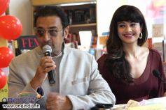 Gulshan Grover & Pooja Batra at Launch of Shriya Sekhsaria's book One